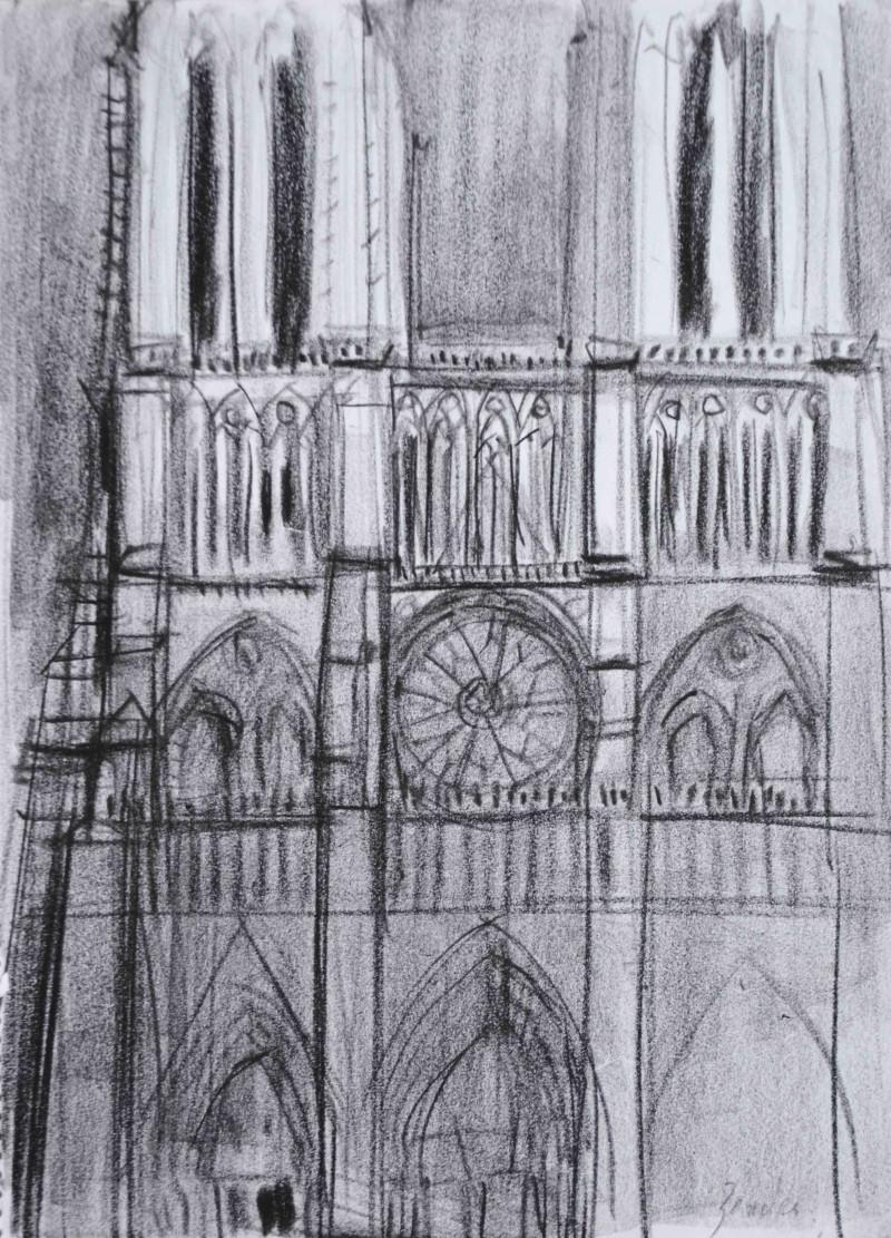 Vorderfront einer Kathedrale