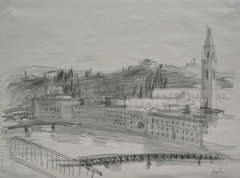 Stadtlandschaft mit Fluss